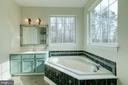 Master bathroom with soaking tub - 40 KNOTSANCHOR LN, FREDERICKSBURG