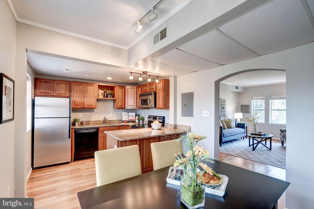 Dining Room and Kitchen - Open Concept Floor Plan! - 1735 N TROY ST #8-415, ARLINGTON