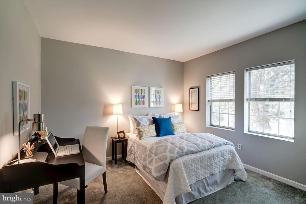 Bedroom #2 Freshly Painted w/ Soft Gray Paint! - 1735 N TROY ST #8-415, ARLINGTON