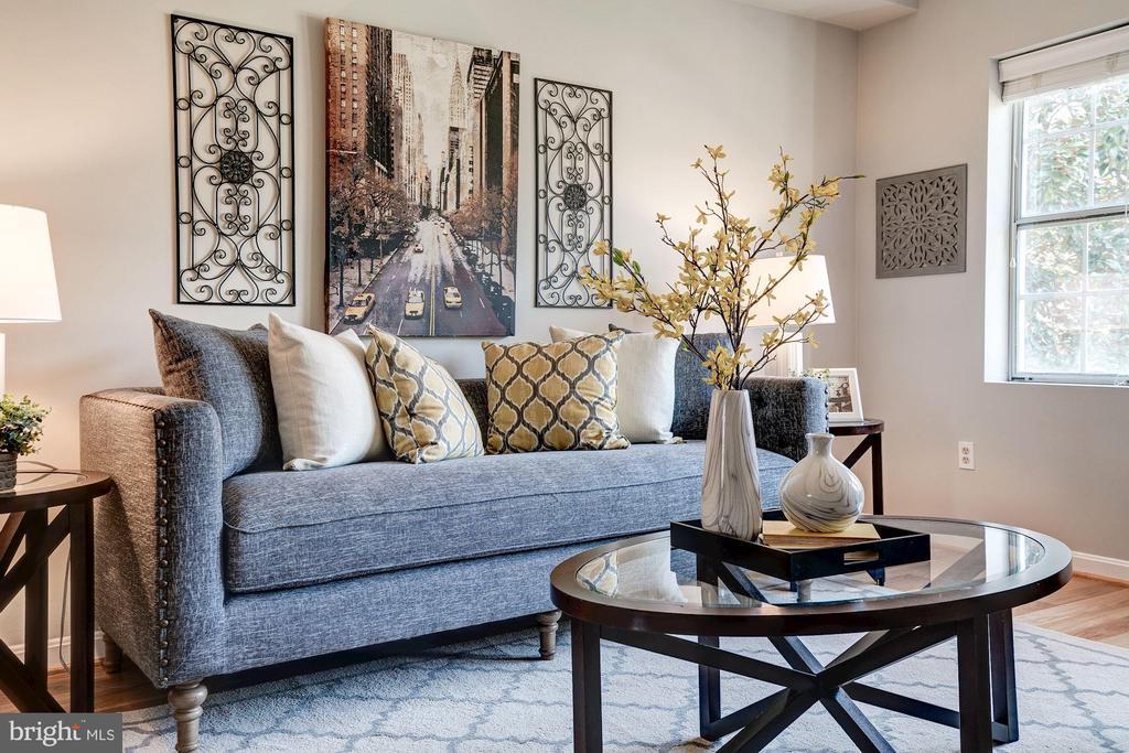 Living Room Receives an Abundance of Sunlight! - 1735 N TROY ST #8-415, ARLINGTON