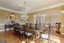 Formal Dining Room with Arched Entryways - 40471 GRENATA PRESERVE PL, LEESBURG
