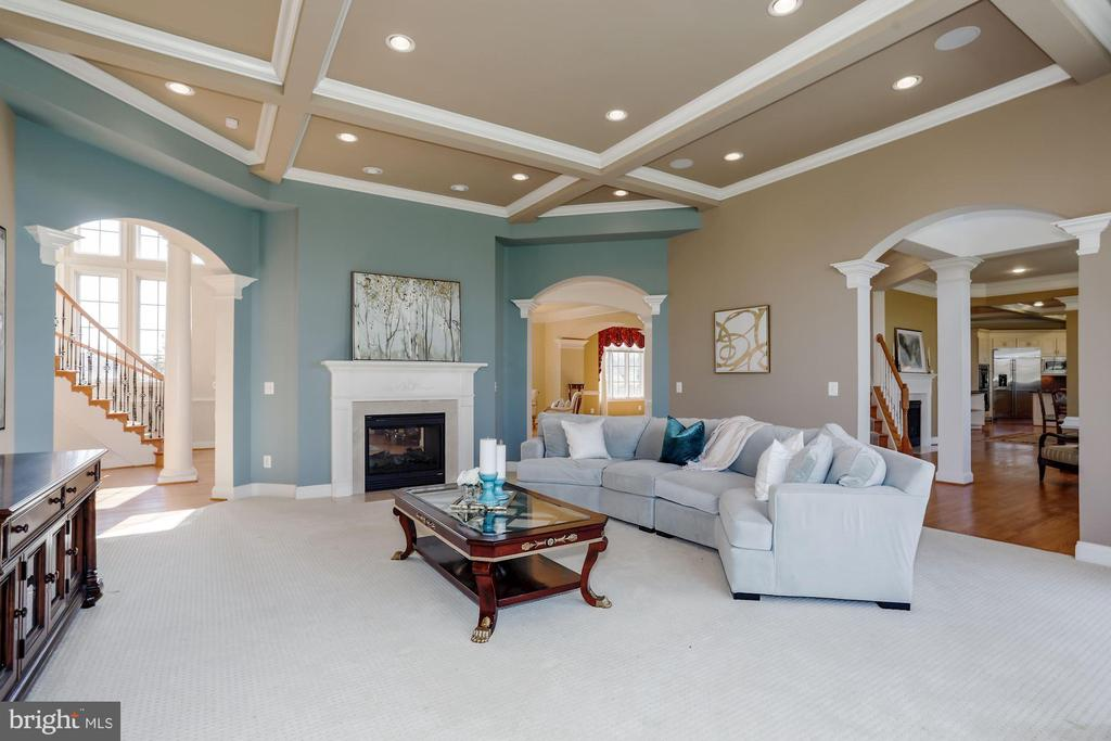 Family Room with 2 Sided Fireplace - 40471 GRENATA PRESERVE PL, LEESBURG