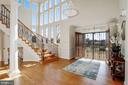 2 Floor Grand Foyer with Curved Oak Staircase - 40471 GRENATA PRESERVE PL, LEESBURG