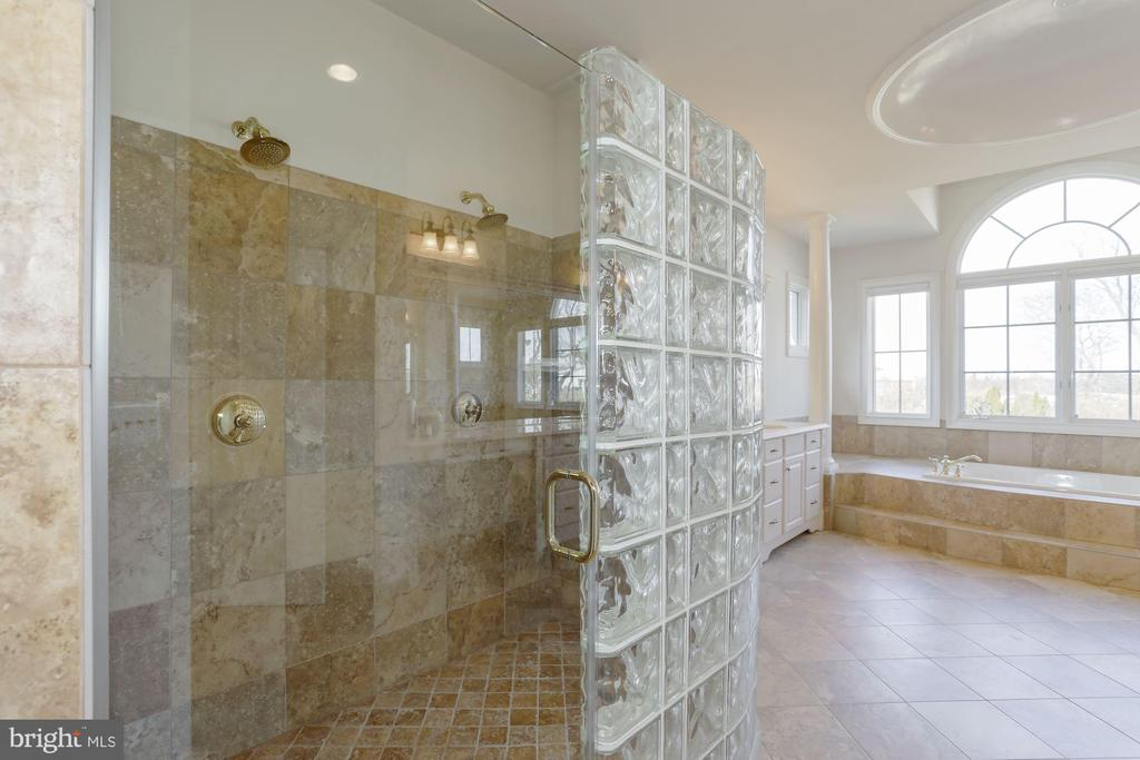 Master BR with Dual Heads and Custom Tile - 40471 GRENATA PRESERVE PL, LEESBURG