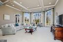 Family Room with Coffered Ceiling and Rear Views - 40471 GRENATA PRESERVE PL, LEESBURG