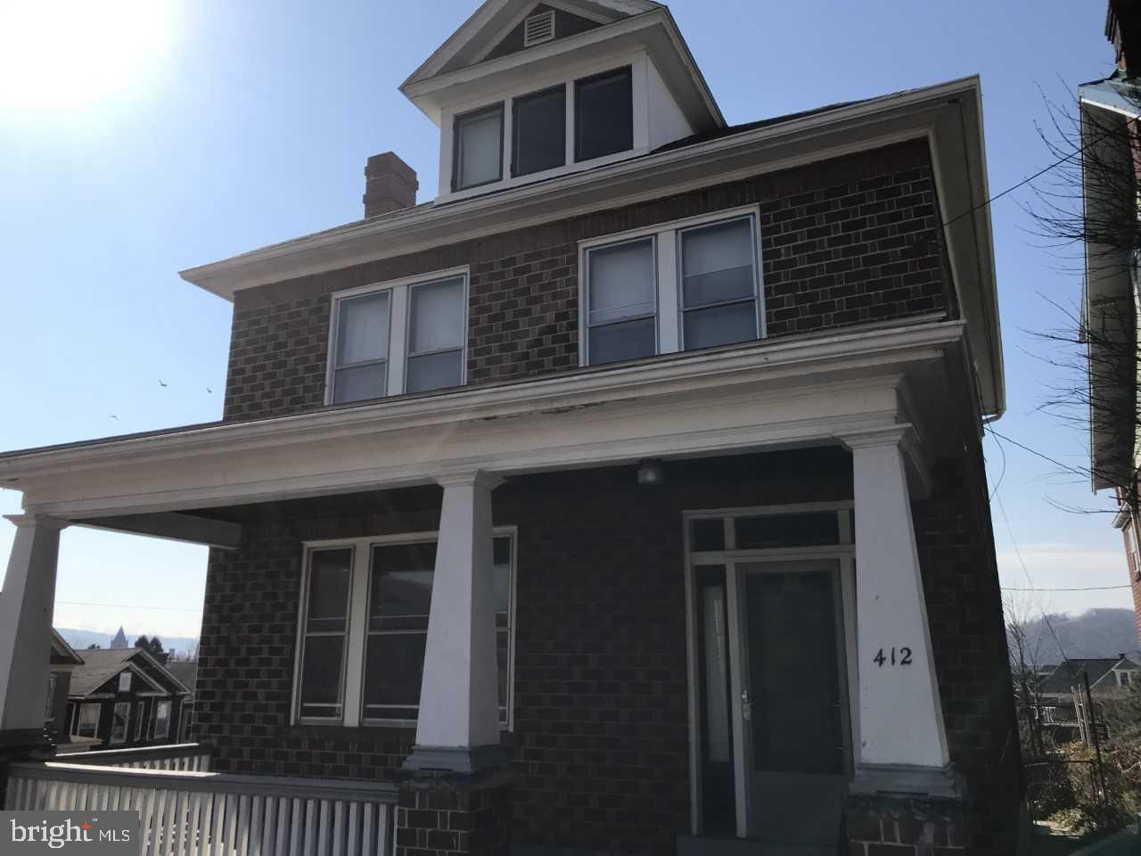 Single Family for Sale at 412 Magruder St Cumberland, Maryland 21502 United States