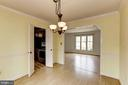 Dining Room to Kitchen and Living Room - 10279 GREYSTONE RD, MANASSAS