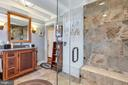 Remodeled master bath with custom cabinetry - 13410 GOODHART LN, LEESBURG