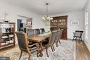 Large dining room! - 10625 TIMBERIDGE RD, FAIRFAX STATION