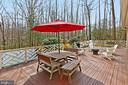 Deck to enjoy peaceful surroundings! - 10625 TIMBERIDGE RD, FAIRFAX STATION