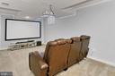 Media/theatre room. - 10625 TIMBERIDGE RD, FAIRFAX STATION