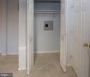 Master bedroom closet with wall safe - 266 MOSEBY DR, MANASSAS PARK
