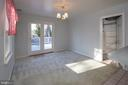Large dining area and doors to deck - 266 MOSEBY DR, MANASSAS PARK