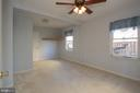 Large master bedroom with bathroom - 266 MOSEBY DR, MANASSAS PARK