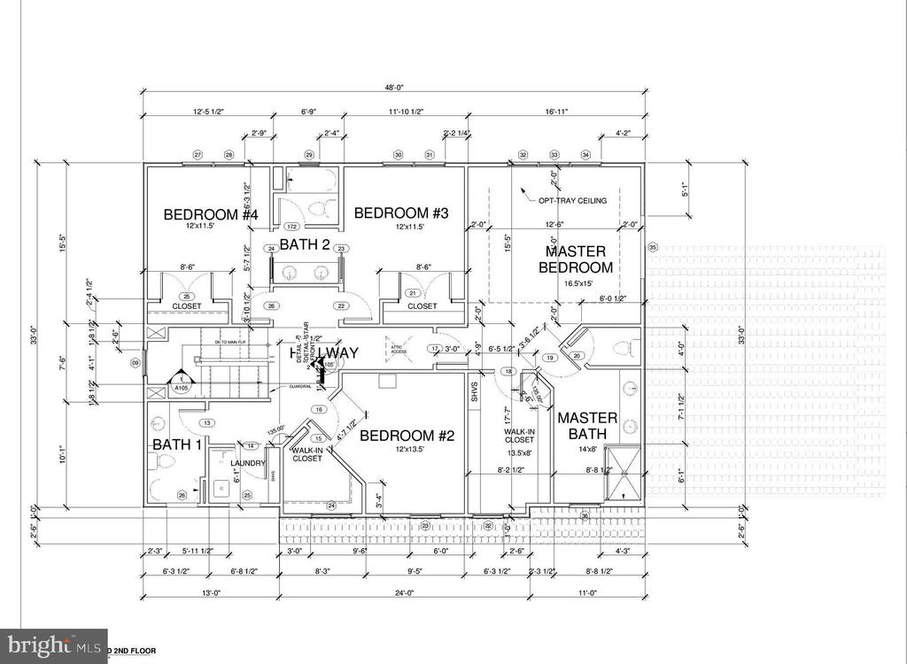 Upper level floor plan - 7412 HAMILTON ST, ANNANDALE
