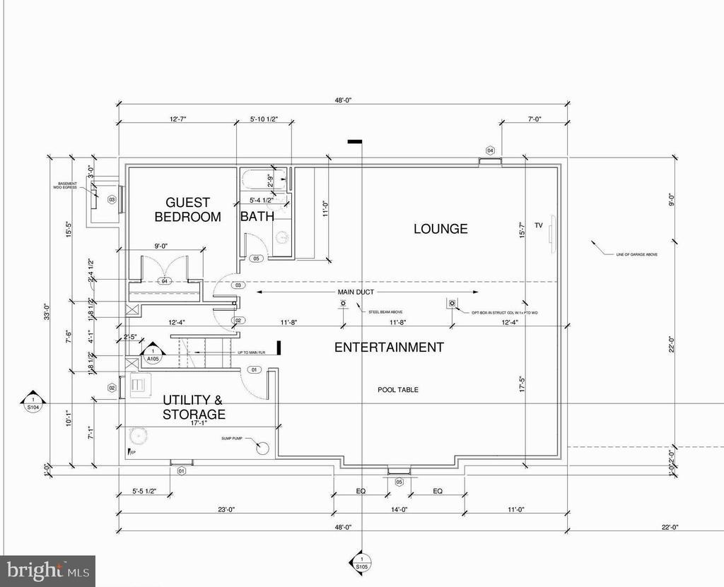 Basement floor plan - 7412 HAMILTON ST, ANNANDALE