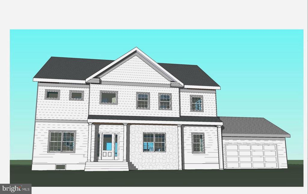 Front rendering with right side load garage - 7412 HAMILTON ST, ANNANDALE