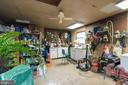 Interior of shed-man cave-heated workshop - 200 HAPPY CREEK RD, LOCUST GROVE