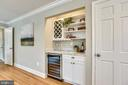 Butlers pantry with wine refrigerator - 8324 OLD DOMINION DR, MCLEAN