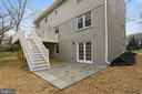 Patio off lower level - 8324 OLD DOMINION DR, MCLEAN
