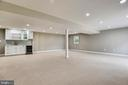 Lower level with wet bar - 8324 OLD DOMINION DR, MCLEAN
