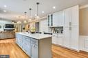 Open Kitchen with large breakfast bar - 8324 OLD DOMINION DR, MCLEAN