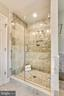 Master bath shower - 8324 OLD DOMINION DR, MCLEAN