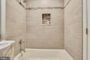 Upper level full bath - 8324 OLD DOMINION DR, MCLEAN