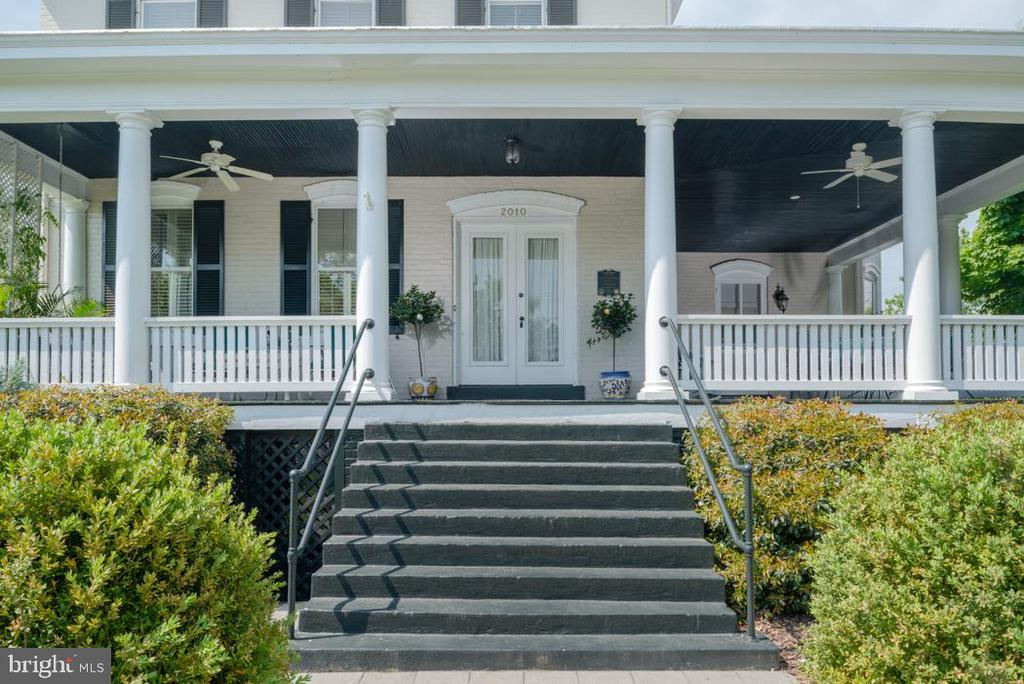 Stately Front Porch Entry that makes a statement. - 2010 FALL HILL AVE, FREDERICKSBURG