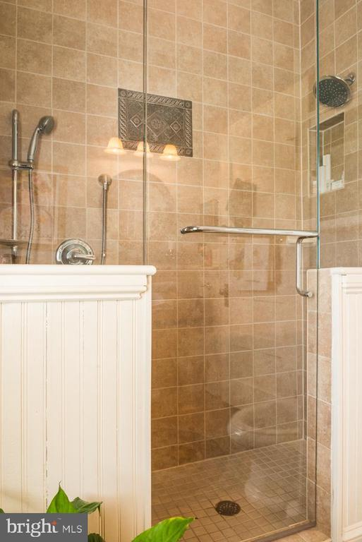First-floor Walk-in Shower with 2 heads and seat. - 2010 FALL HILL AVE, FREDERICKSBURG
