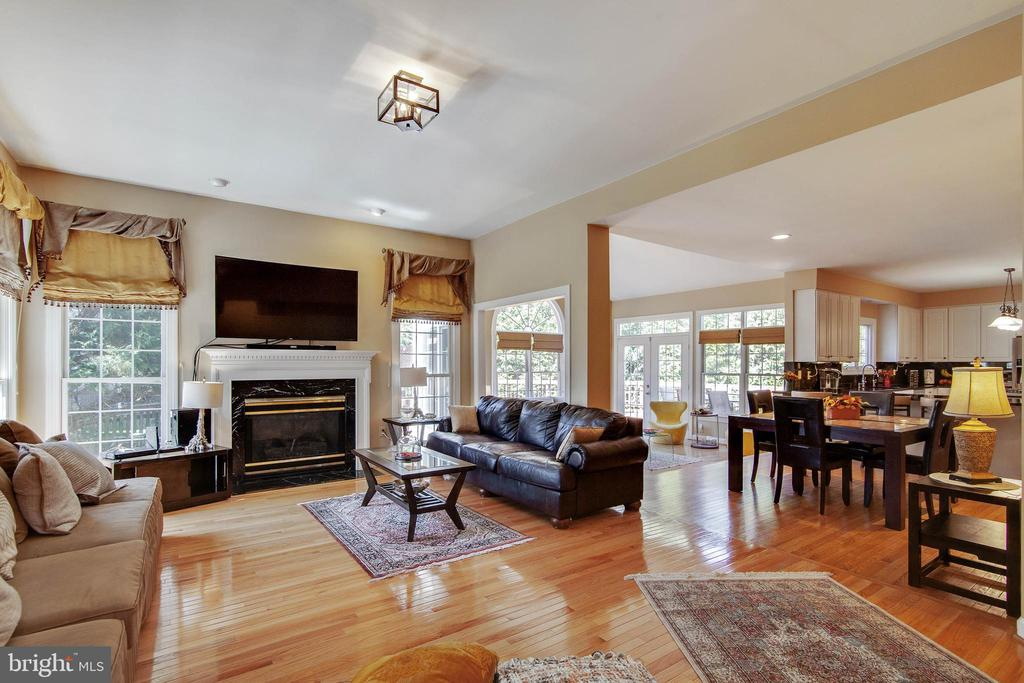 Spacious family room with gas fireplace - 9018 LUPINE DEN DR, VIENNA