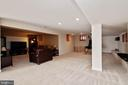 Large recreation room on lower level - 9018 LUPINE DEN DR, VIENNA
