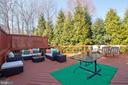 Expansive deck for entertaining. - 9018 LUPINE DEN DR, VIENNA