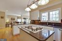 Island with gas cooking - 9018 LUPINE DEN DR, VIENNA