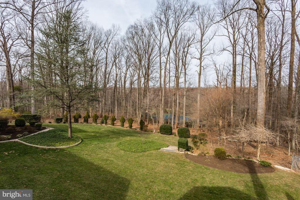 View of yard from the home - 8900 GLENBROOK RD, FAIRFAX