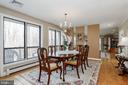 Dining Room with large windows - 8900 GLENBROOK RD, FAIRFAX