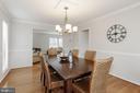Dining room into living room - 3324 MANTUA DR, FAIRFAX