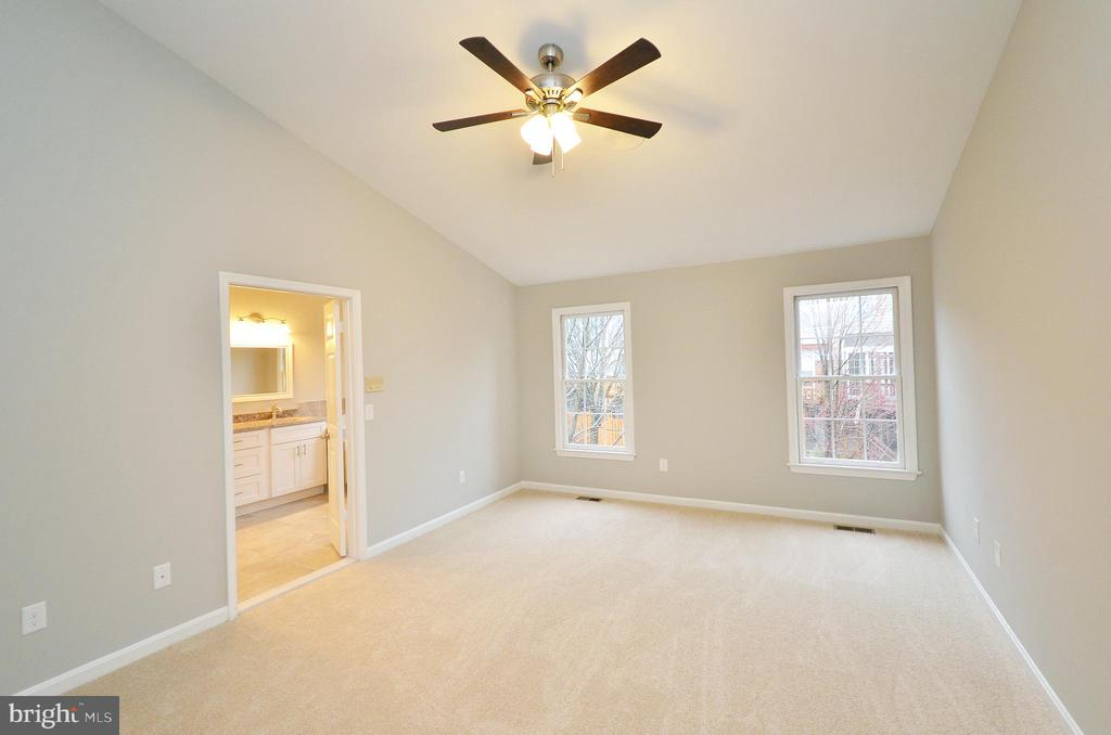 Master Bedroom with Vaulted Ceiling - 20946 SANDSTONE SQ, STERLING