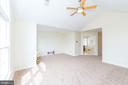 Master suite vaulted ceiling, light and bright! - 25948 DONOVAN DR, CHANTILLY