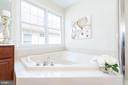 Master bath soaking tub - 25948 DONOVAN DR, CHANTILLY