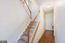 Back staircase off of kitchen and garage area - 25948 DONOVAN DR, CHANTILLY