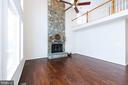 Raised hearth, wood burning 2-story stone FP - 25948 DONOVAN DR, CHANTILLY
