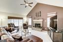 Living Room w/ Fireplace - 43895 CAMELLIA ST, ASHBURN