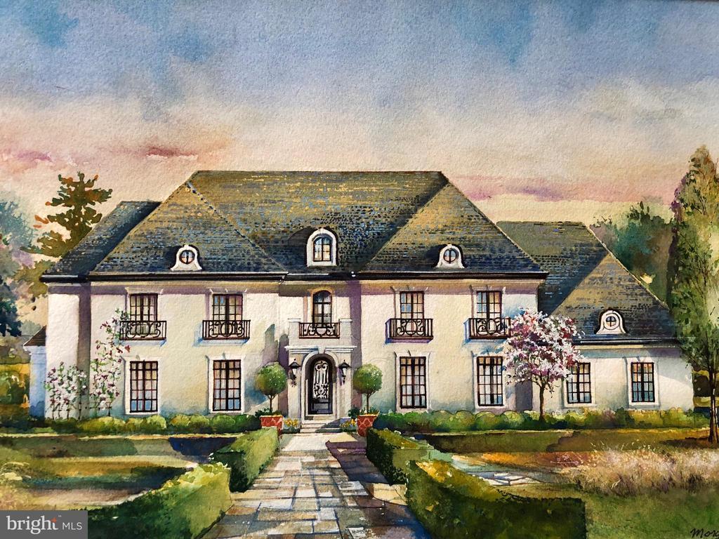 Rendering of this custom estate - 22501 CREIGHTON FARMS DR, LEESBURG
