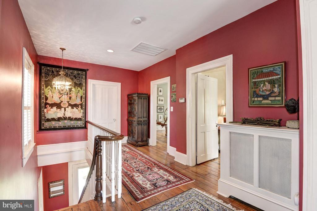 Upper Level Hallway with original floors. - 2010 FALL HILL AVE, FREDERICKSBURG