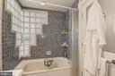 Lower Level Bath with Glass Tiles. - 2010 FALL HILL AVE, FREDERICKSBURG