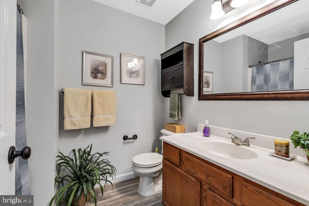 Hall bath - 129 HILL VALLEY DR, WINCHESTER