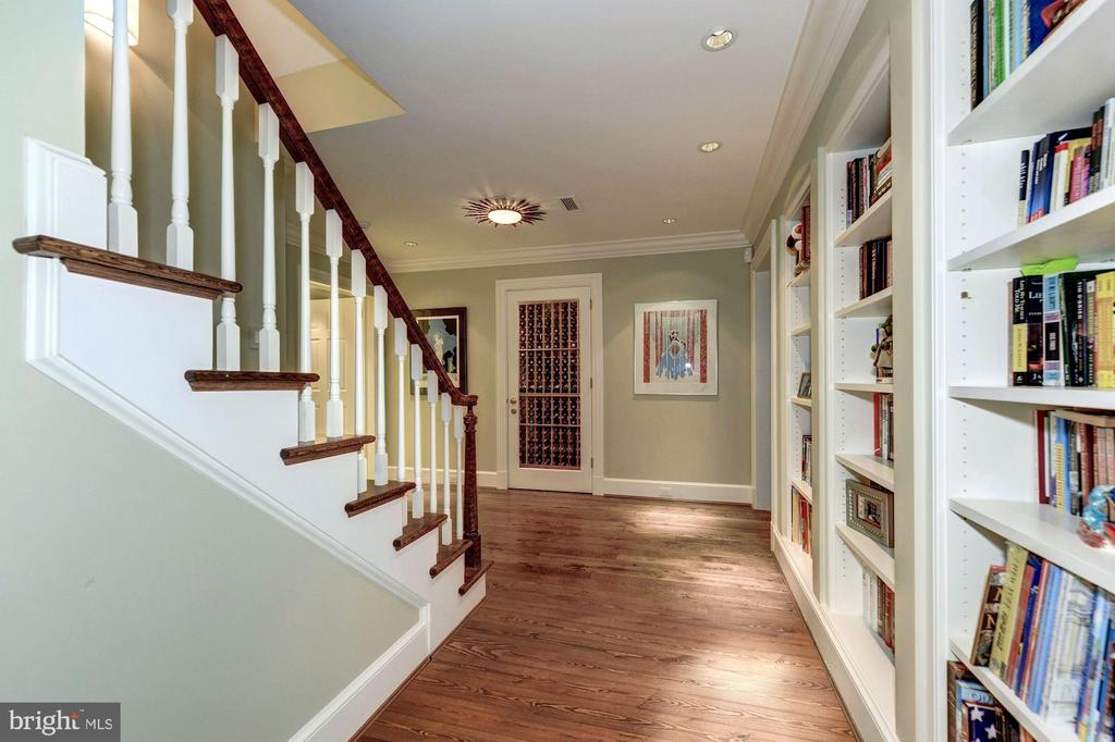 View of wine cellar at lower level landing - 4934 INDIAN LN NW, WASHINGTON