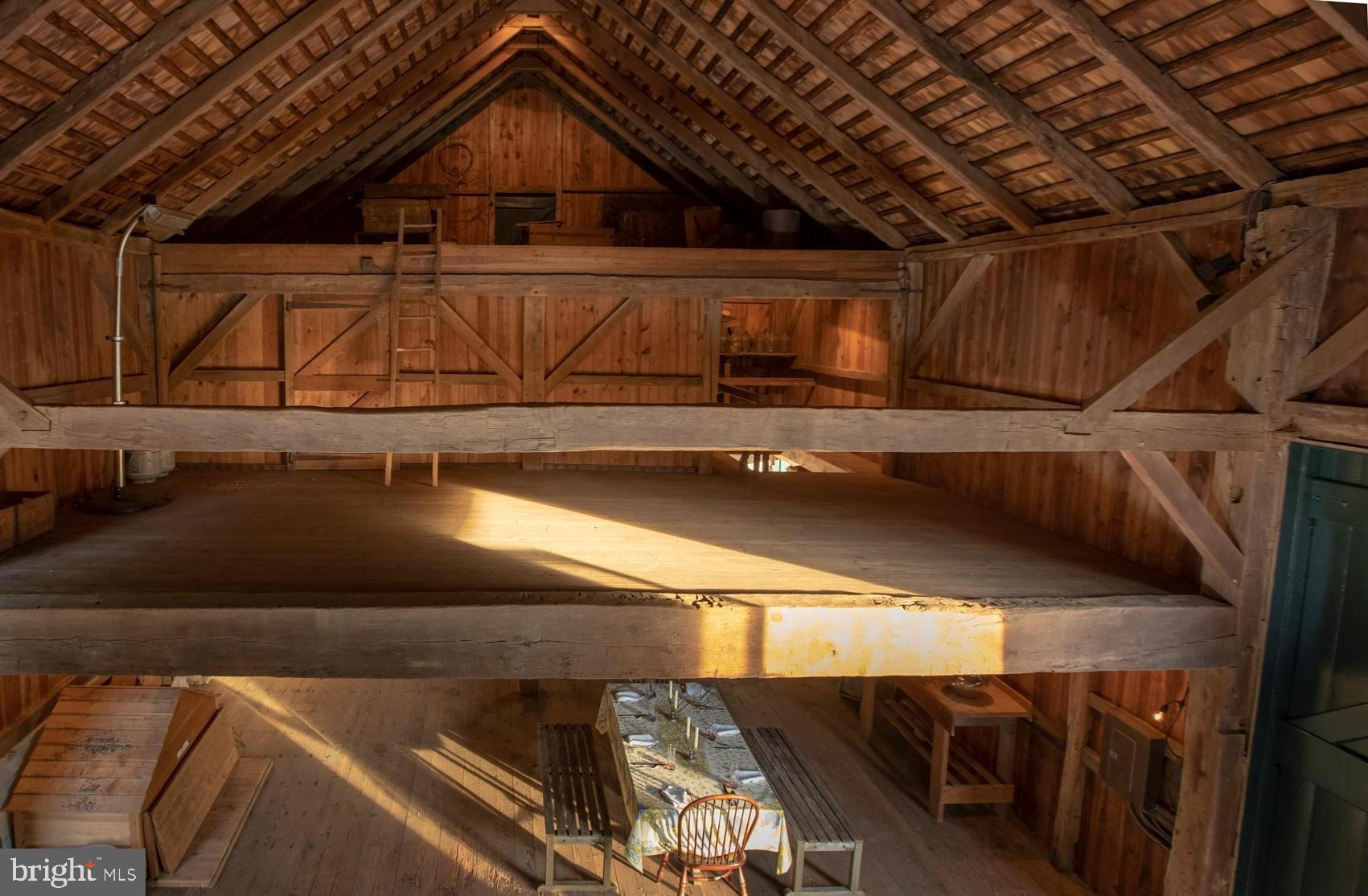 Indoor basket ball games can be played in the barn