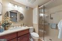Lower level bathroom - 12050 HICKORY HILLS CT, OAKTON